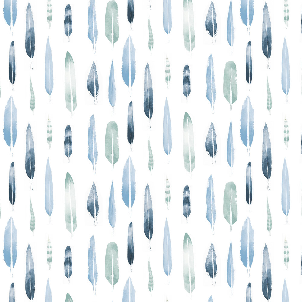 Mini Moderns Feathers  Chalkhill Blue Wallpaper - Product code: AZDPT024CB