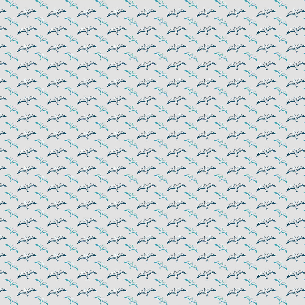 Mini Moderns Gulls Washed Denim Wallpaper - Product code: AZDPT025WD
