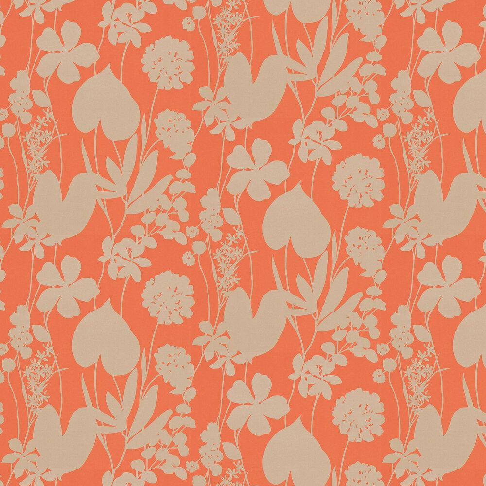 Nalina Wallpaper - Papaya - by Harlequin
