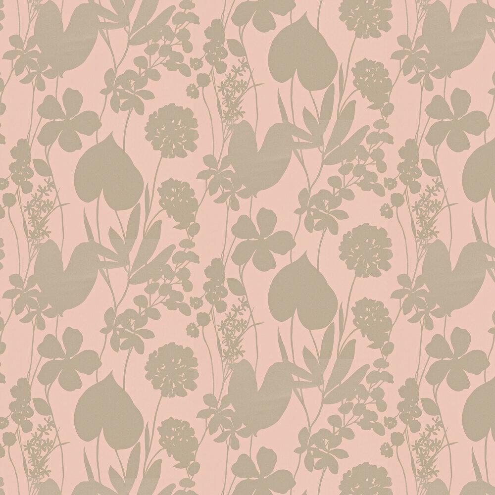 Nalina Wallpaper - Peach - by Harlequin
