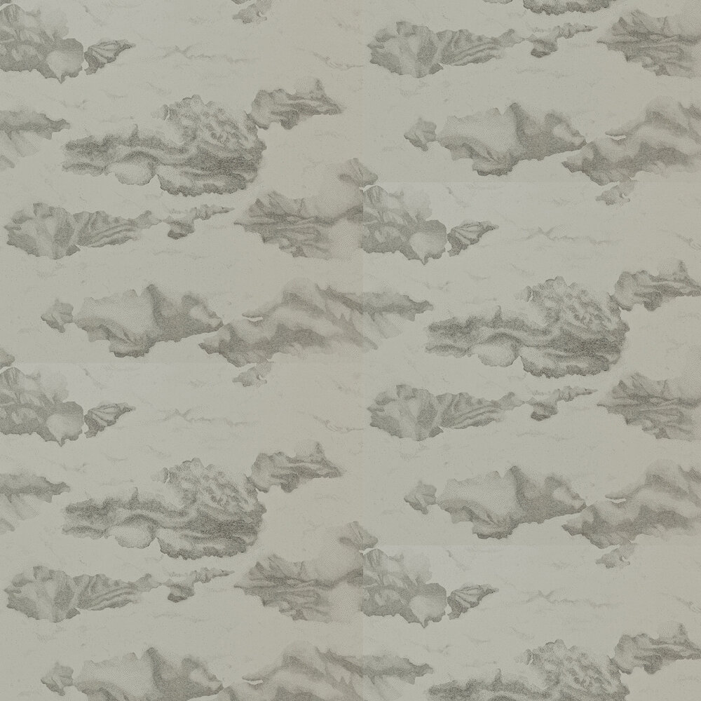 Nuvola Wallpaper - Charcoal - by Harlequin