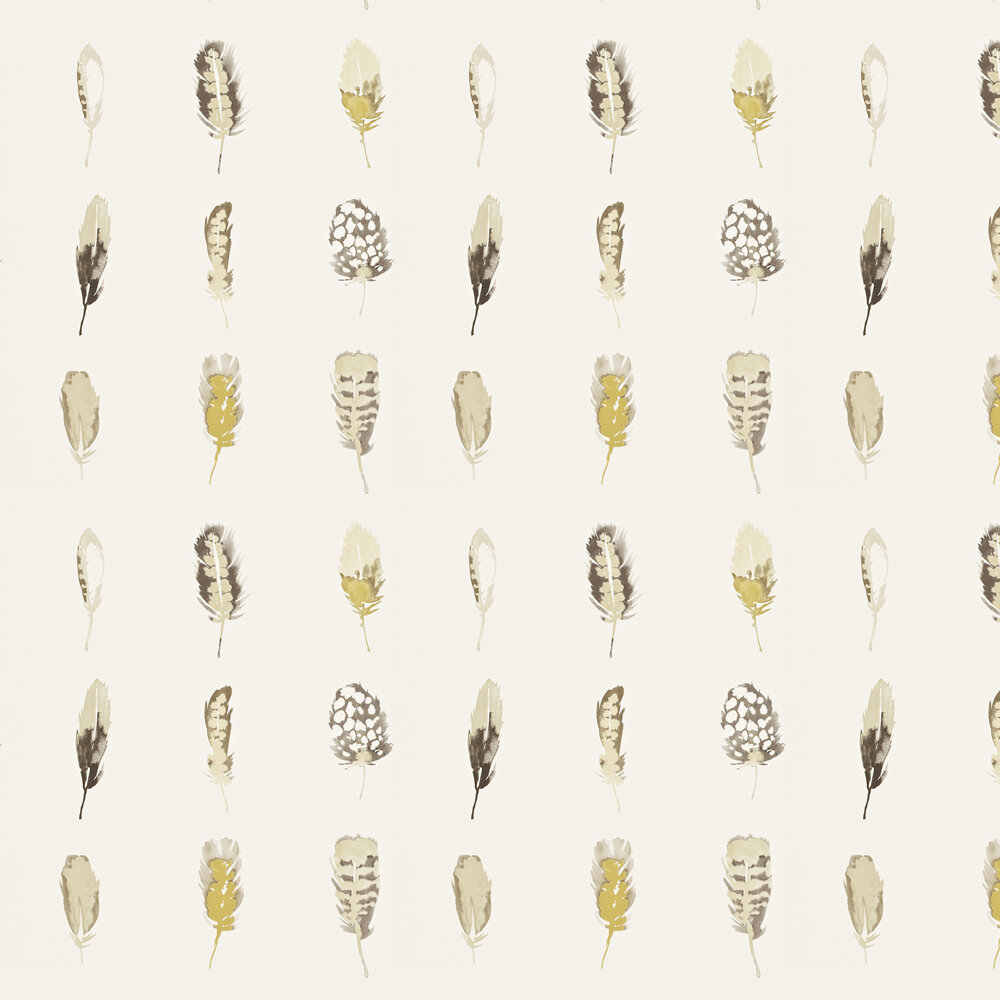 Limosa Wallpaper - Mustard - by Harlequin