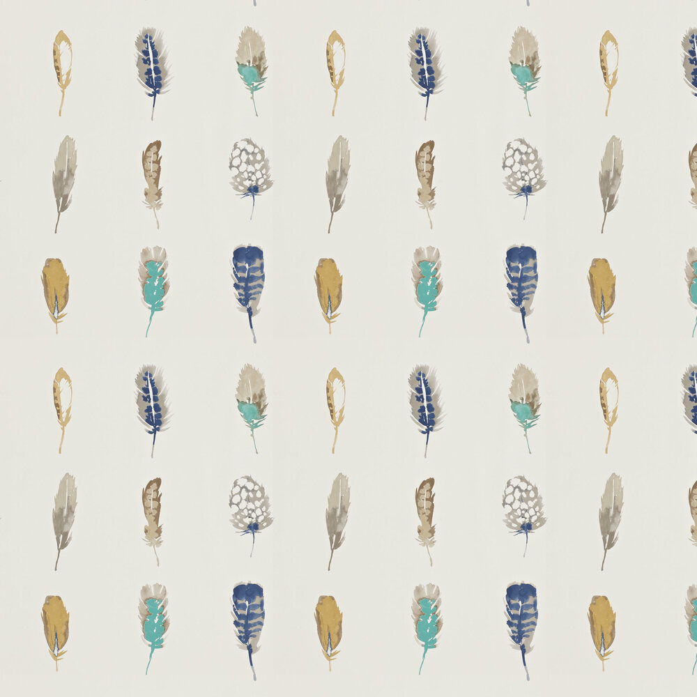 Limosa Wallpaper - Indigo - by Harlequin