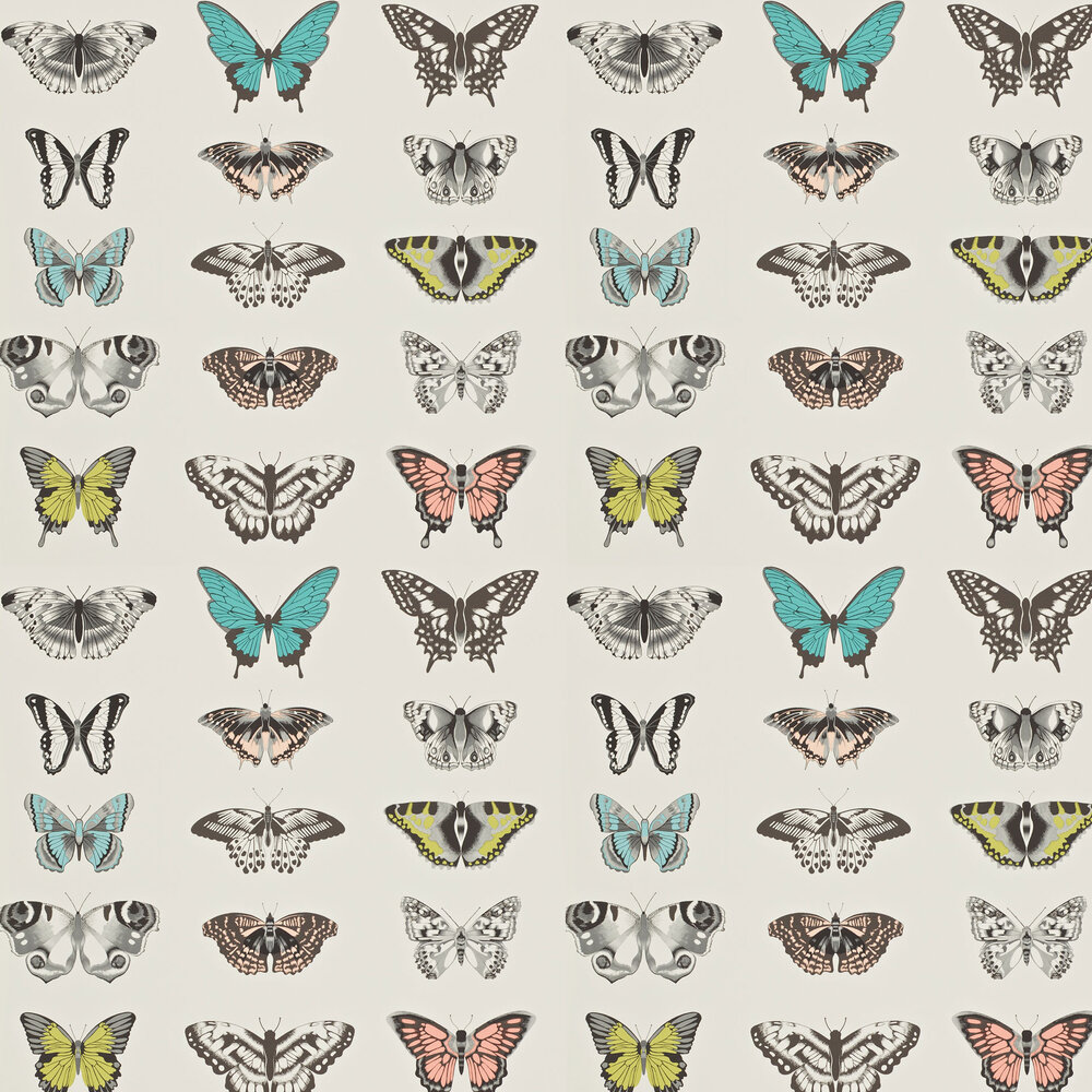 Papilio Wallpaper - Peach - by Harlequin