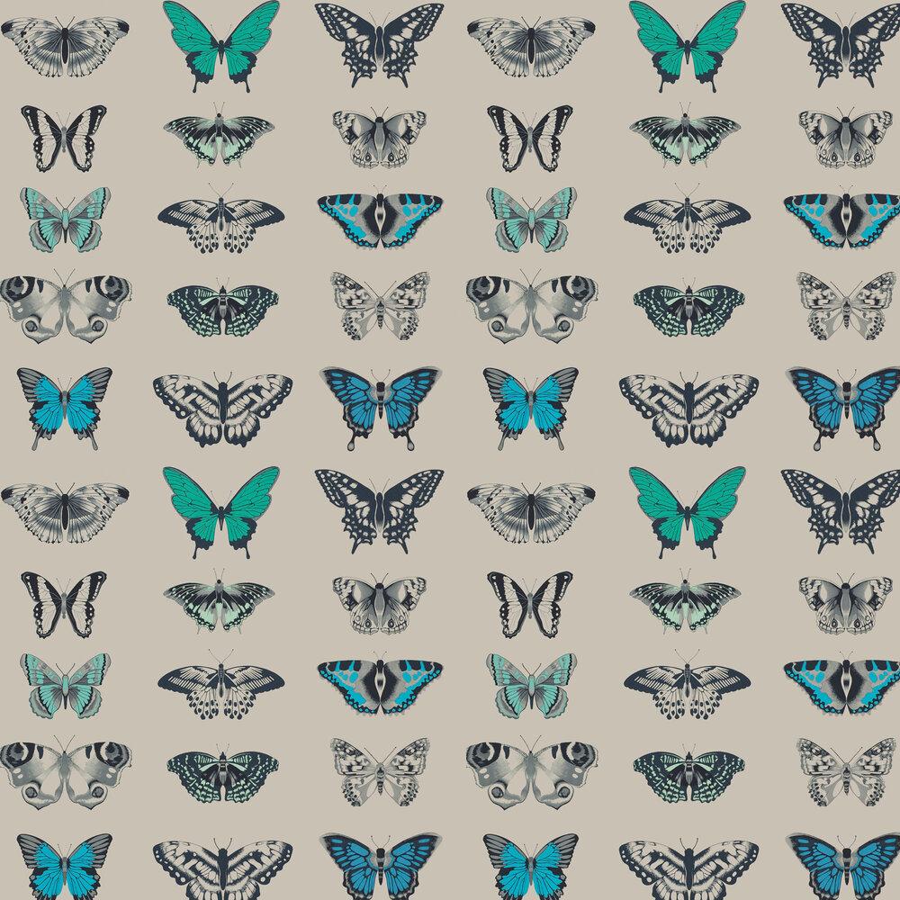 Papilio Wallpaper - Indigo - by Harlequin
