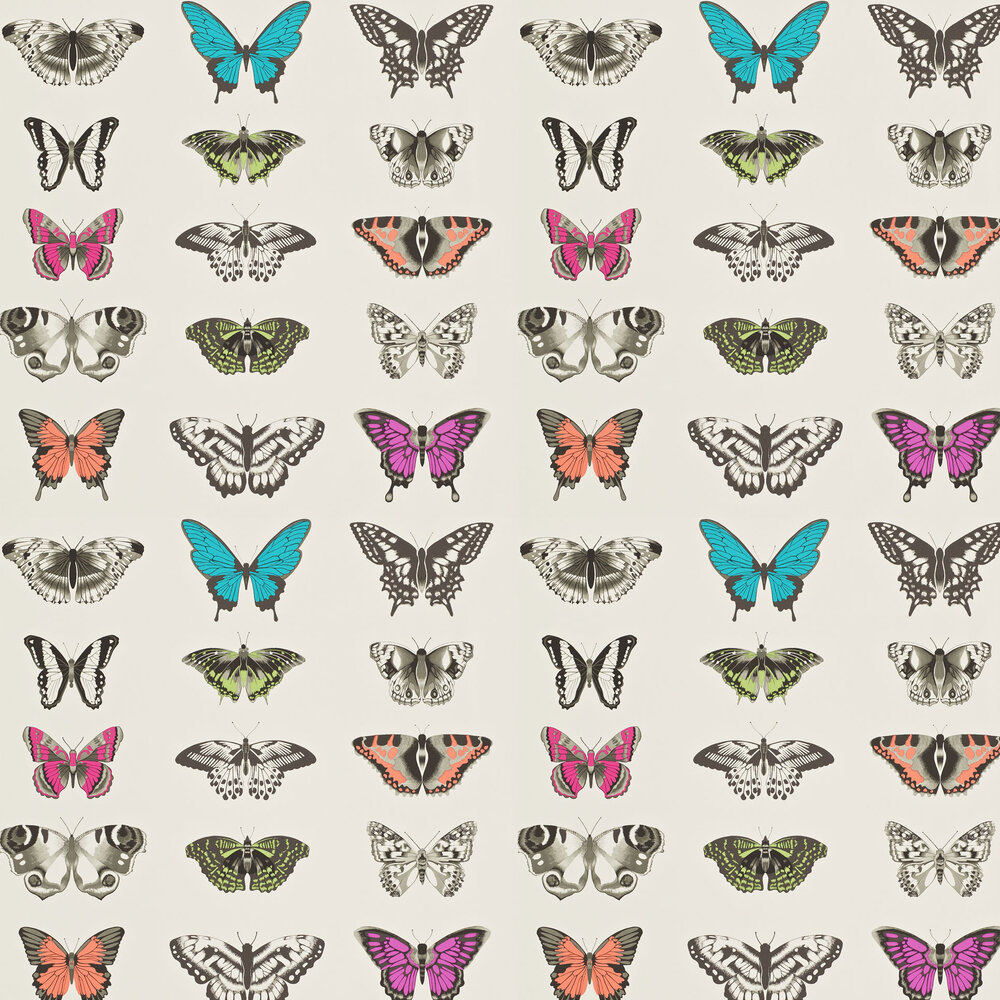 Papilio Wallpaper - Flamingo - by Harlequin