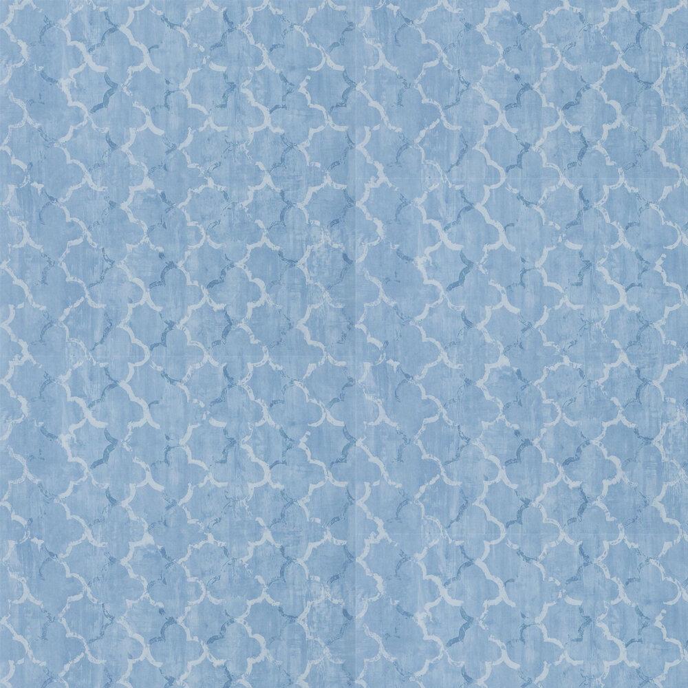 Chinese Trellis Wallpaper - Cobalt - by Designers Guild