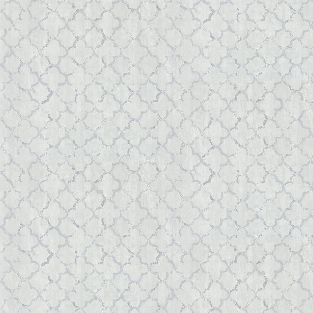 Chinese Trellis Wallpaper - Platinum - by Designers Guild
