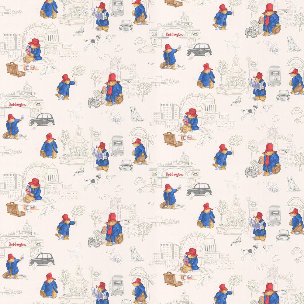Jane Churchill London Paddington Red/ Blue Wallpaper - Product code: J125W-01