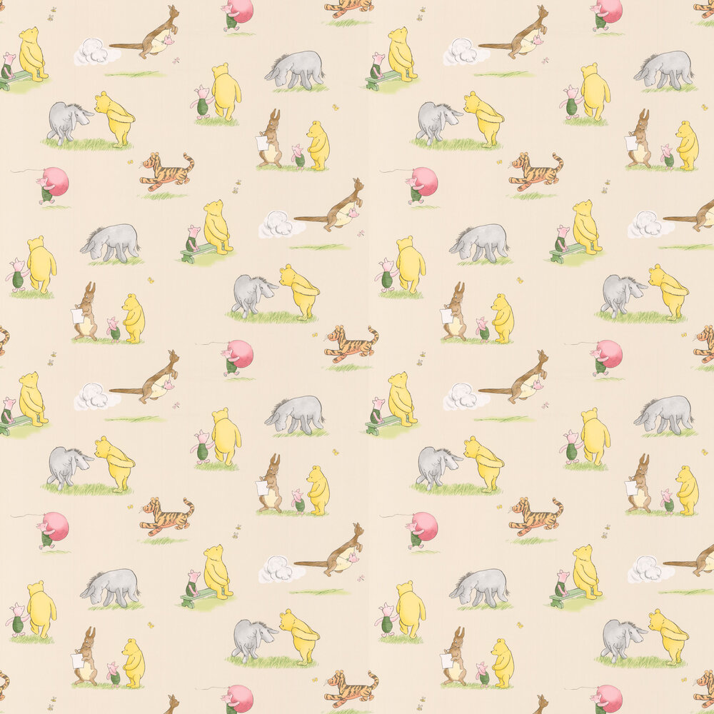 Jane Churchill Winnie and Friends Vint Wallpaper - Product code: J127W-04