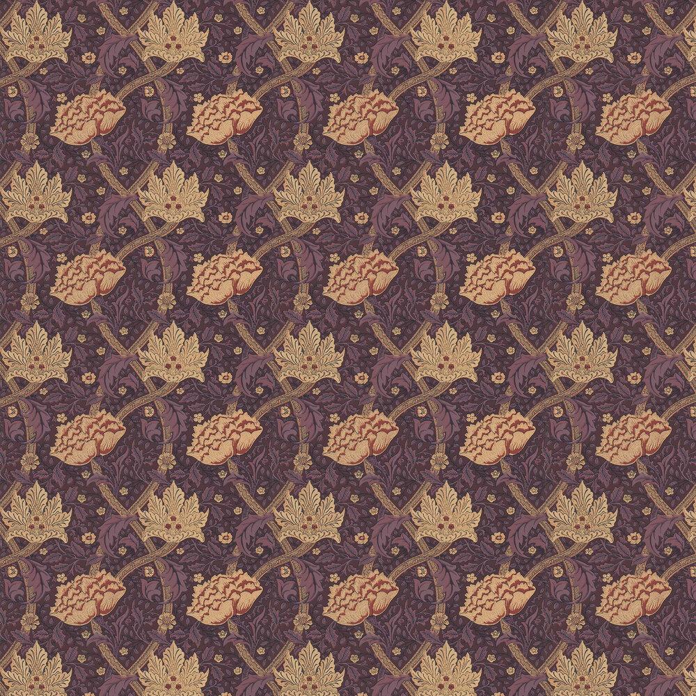 Morris Windrush Aubergine / Wine Wallpaper - Product code: WM8553/3