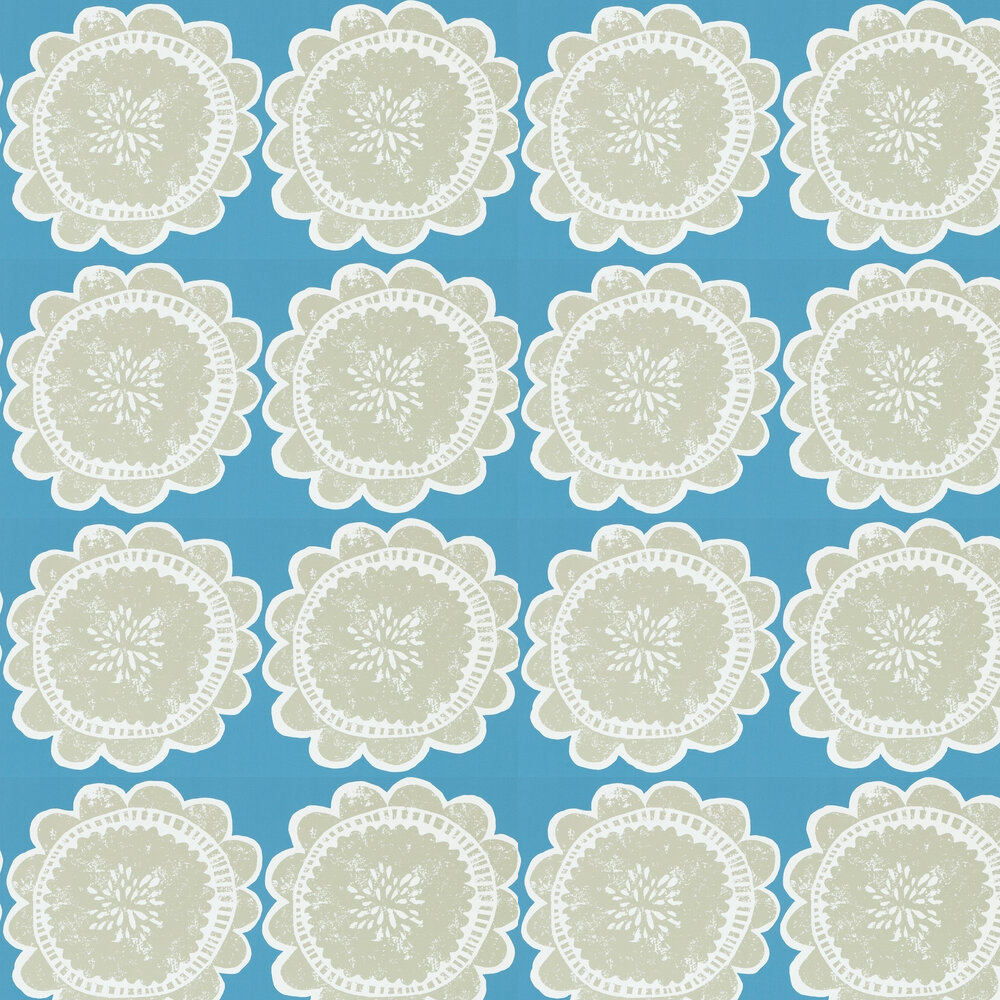 Scion Lotta Cobalt and Putty Wallpaper - Product code: 111097