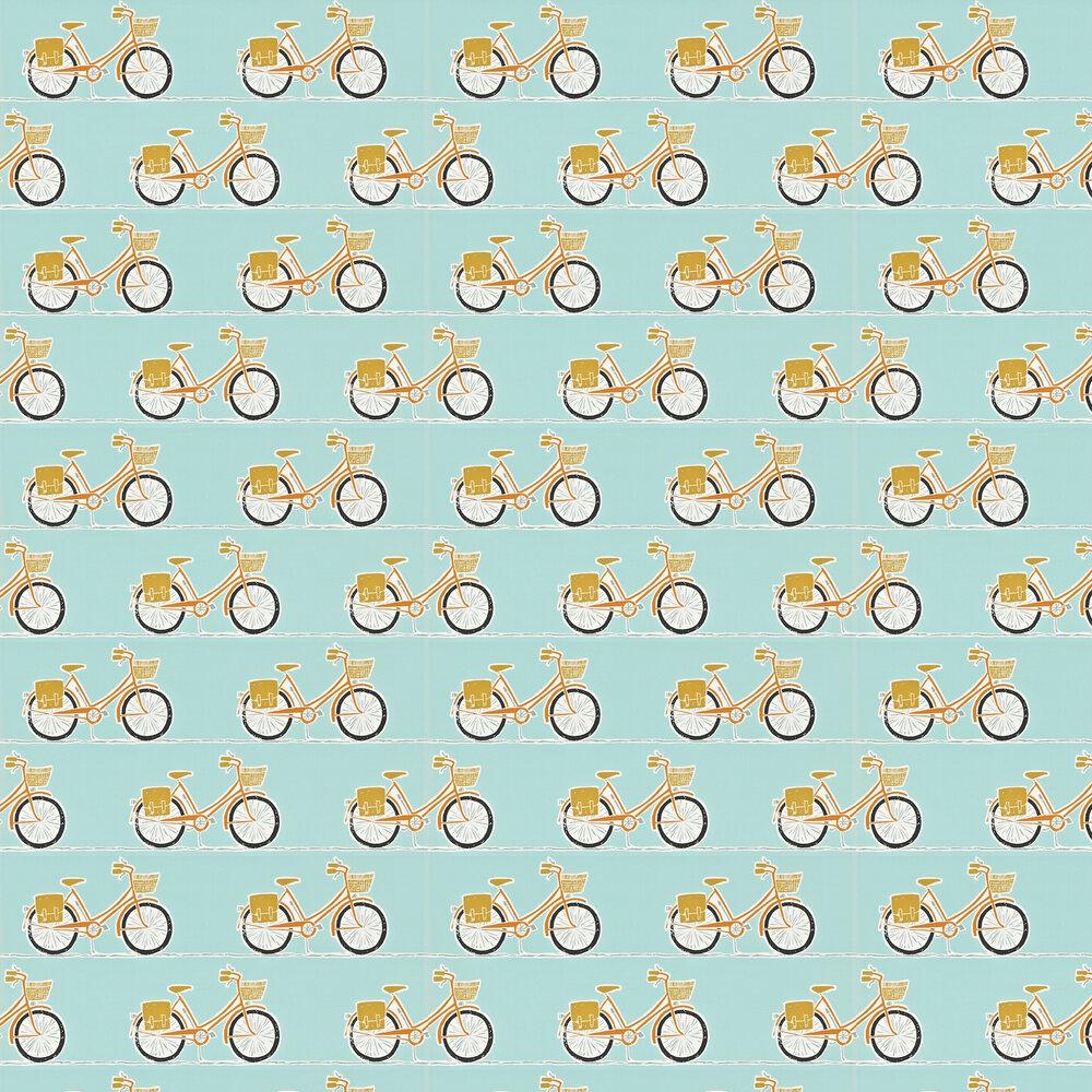 Cykel  Wallpaper - Tangerine, Sulphur and Coal - by Scion