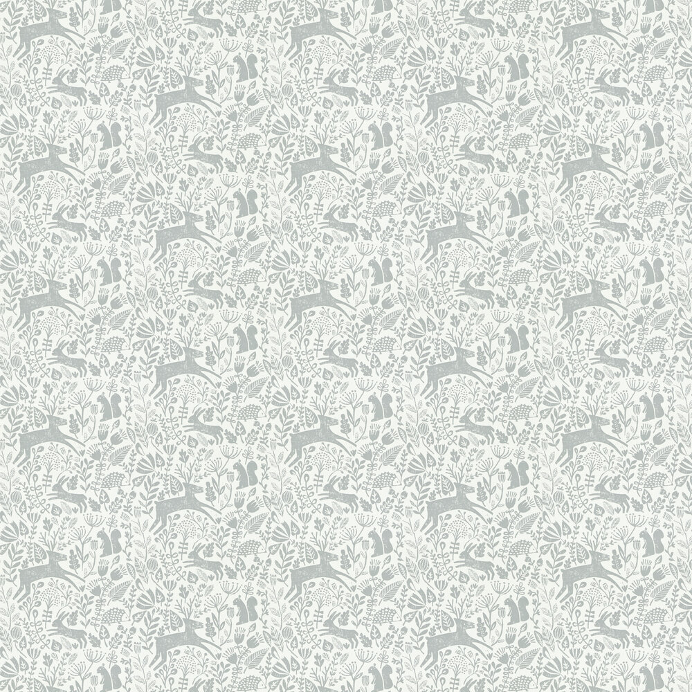 Kelda Wallpaper - Pewter - by Scion