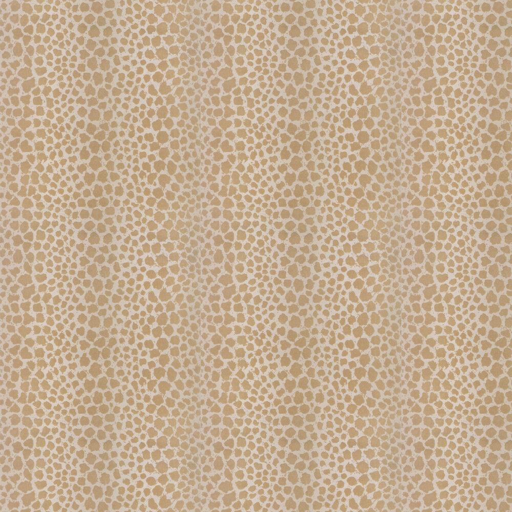 Sundra Flock Wallpaper - Sand - by G P & J Baker
