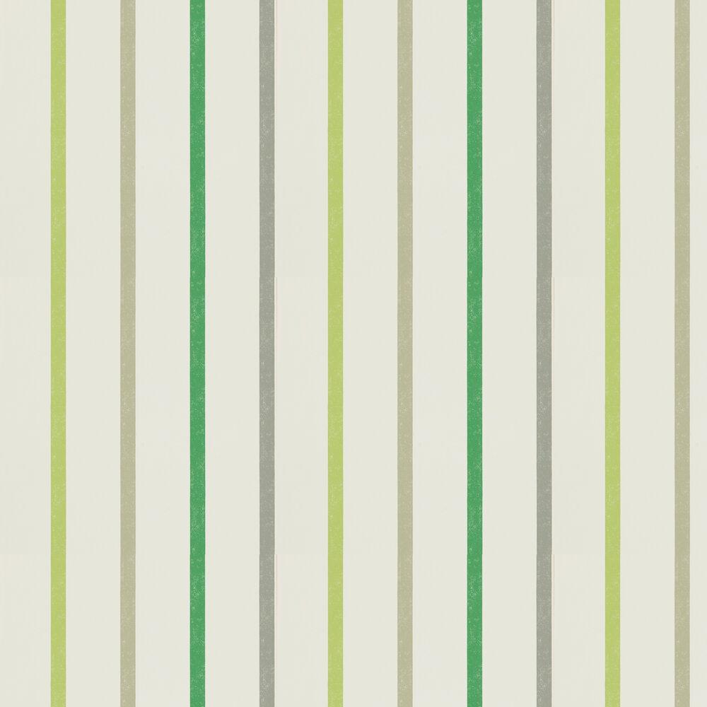 Hoppa Stripe Wallpaper - Apple, Ivy and Slate - by Scion
