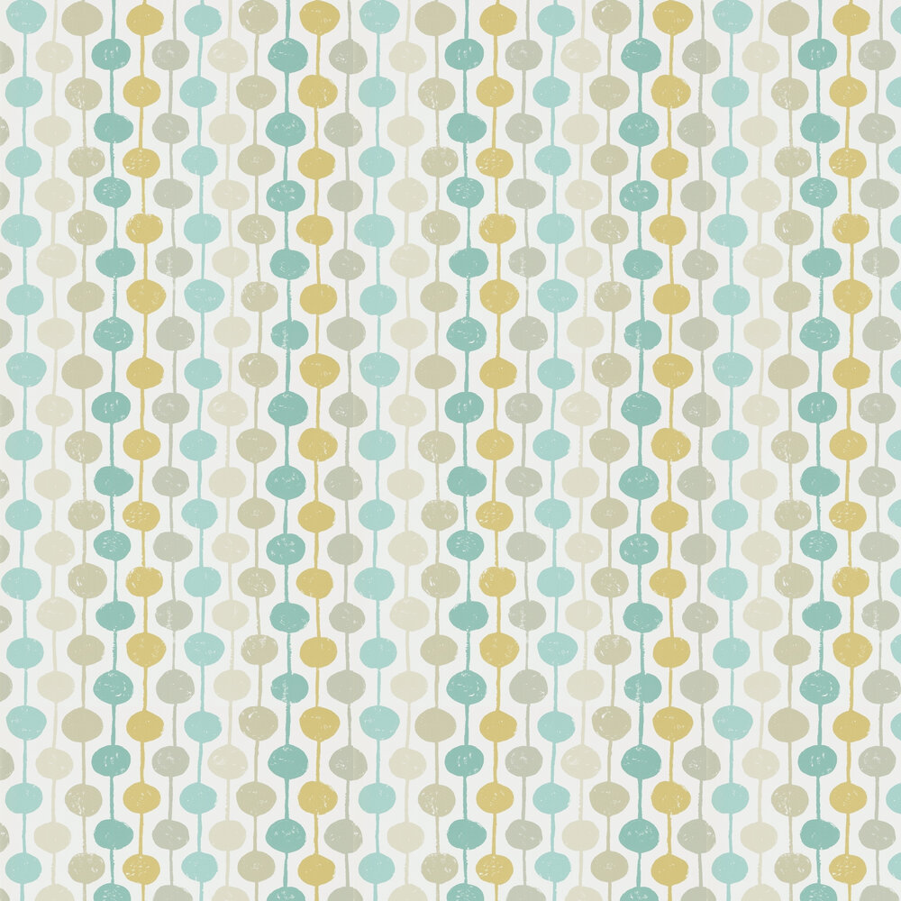 Taimi Wallpaper - Seaglass, Chalk and Honey - by Scion