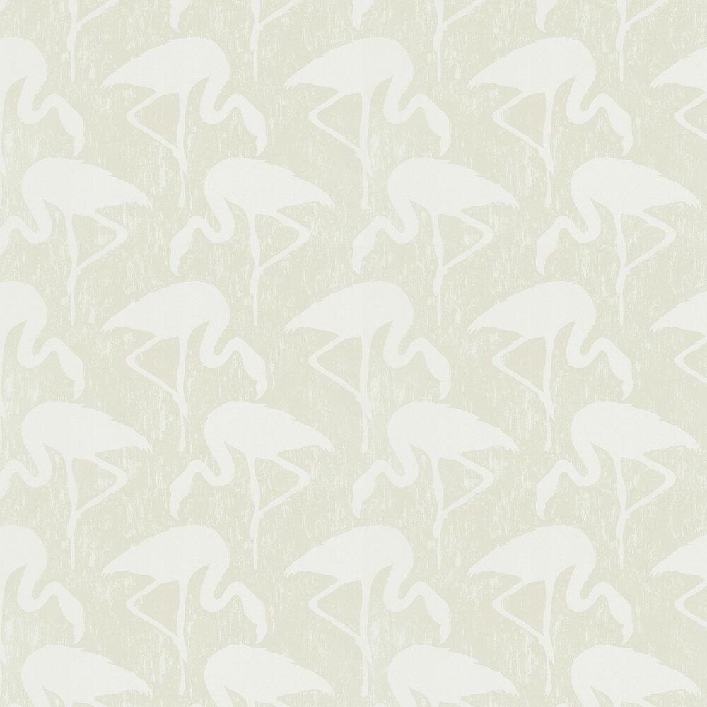 Flamingos Wallpaper - Pearl / Cream - by Sanderson