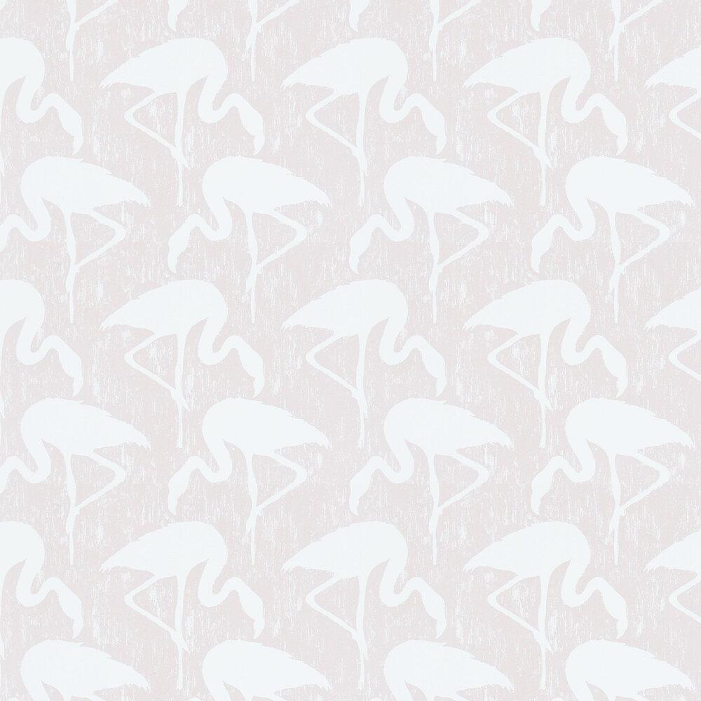 Flamingos Wallpaper - Blush / Ivory - by Sanderson