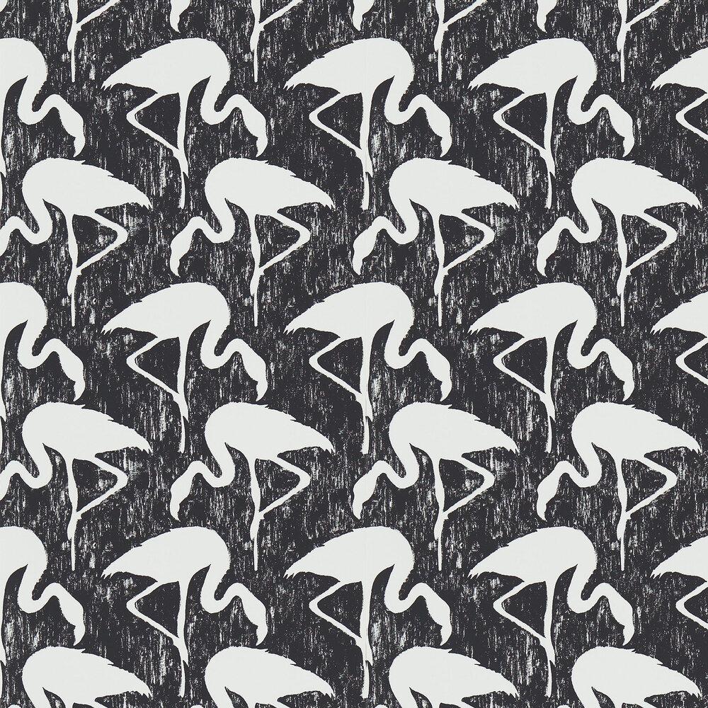 Sanderson Flamingos Ebony / Stone Wallpaper - Product code: 214568