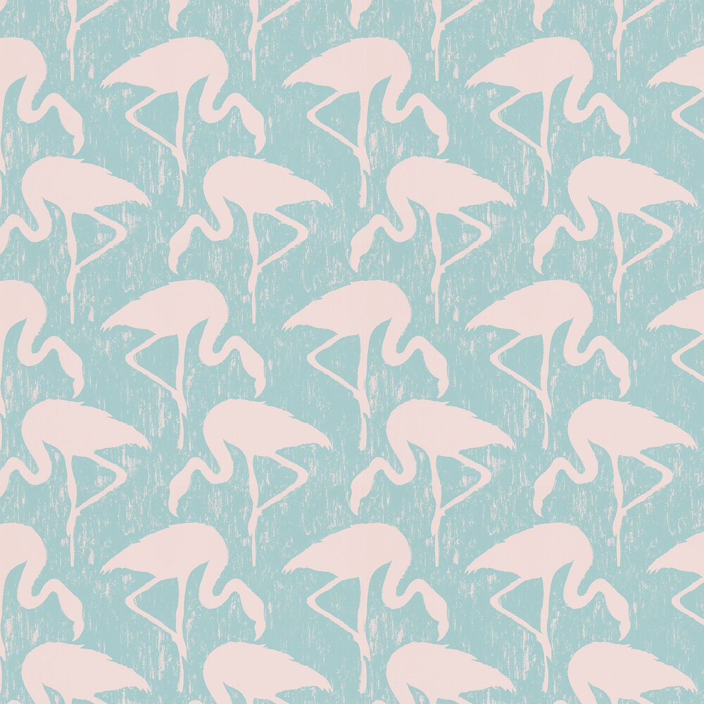 Sanderson Flamingos Turquoise / Pink Wallpaper - Product code: 214569