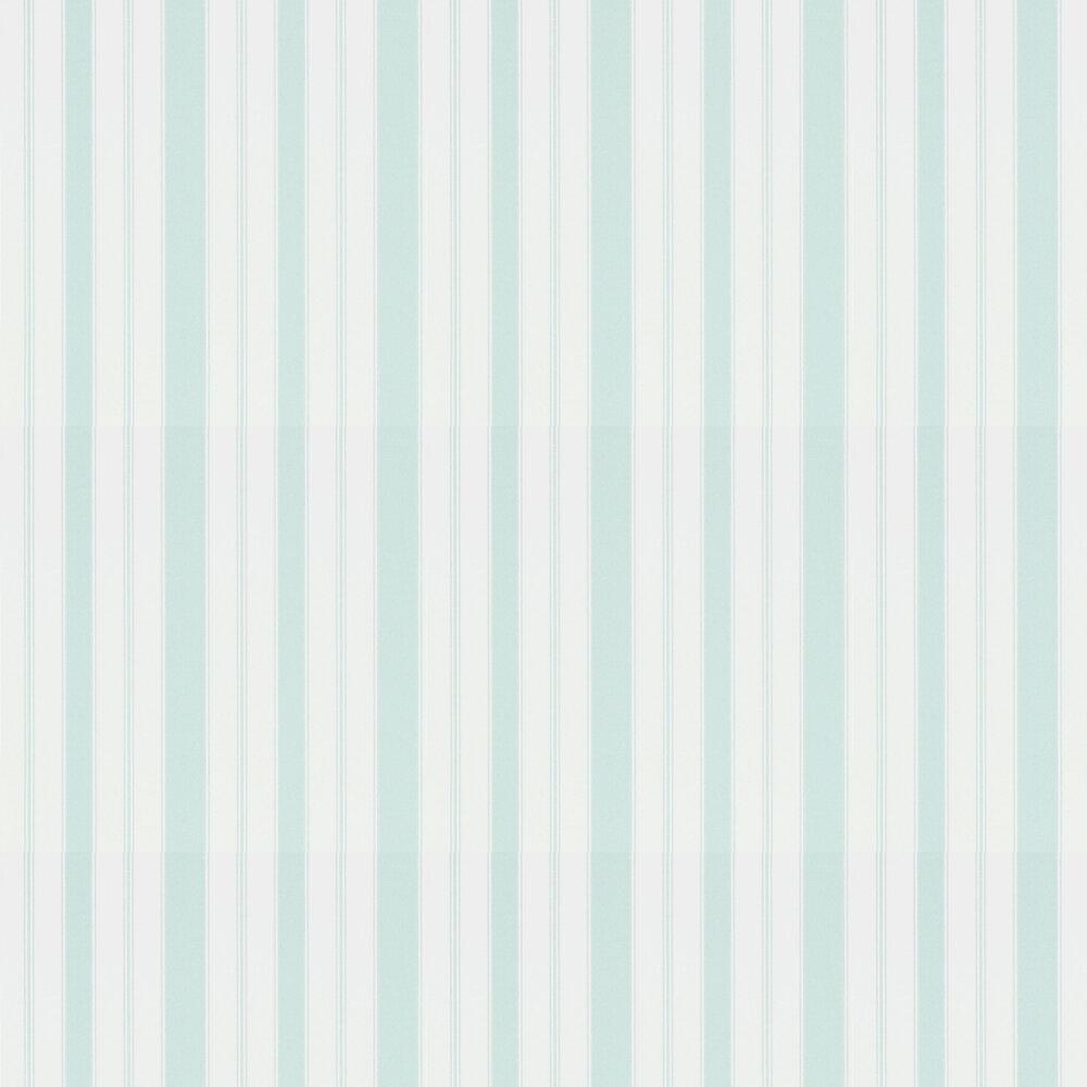 Cecile Stripe Wallpaper - Duck Egg - by Sanderson