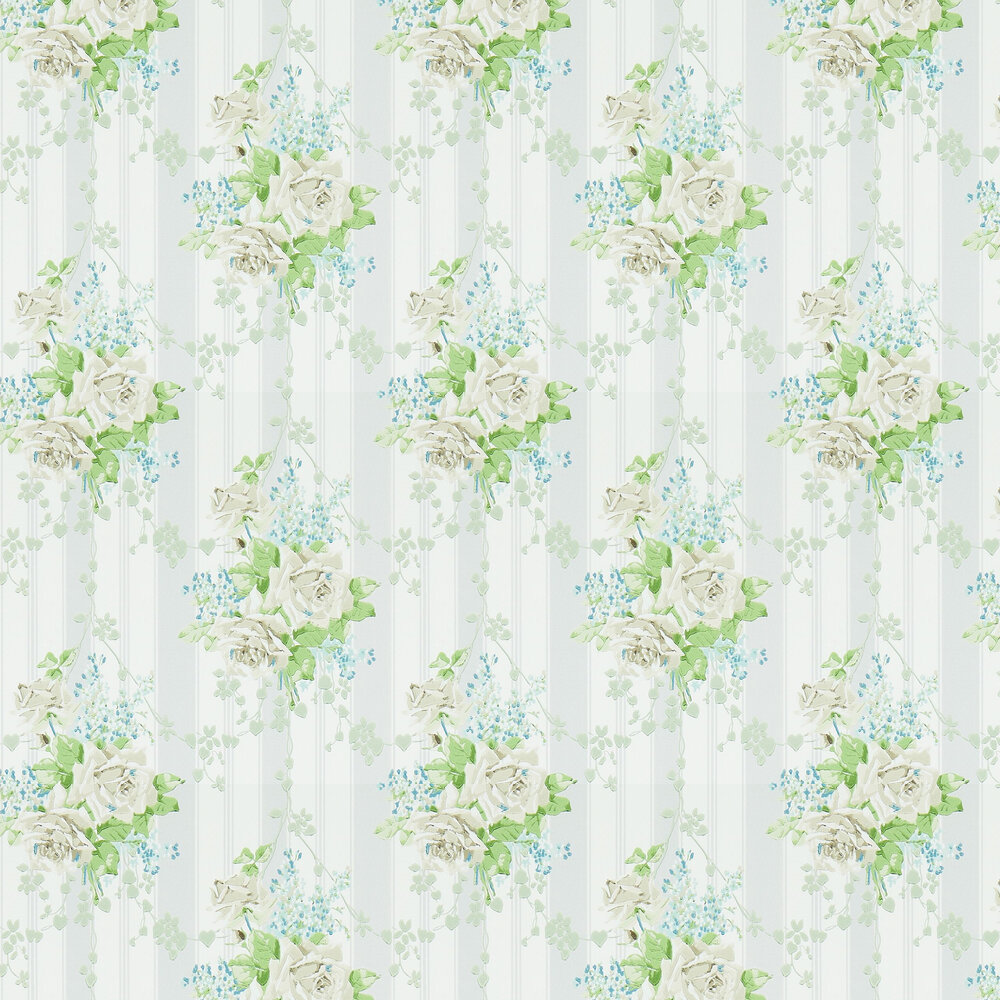 Sanderson Cecile Rose Ivory / Dove Wallpaper - Product code: 214582