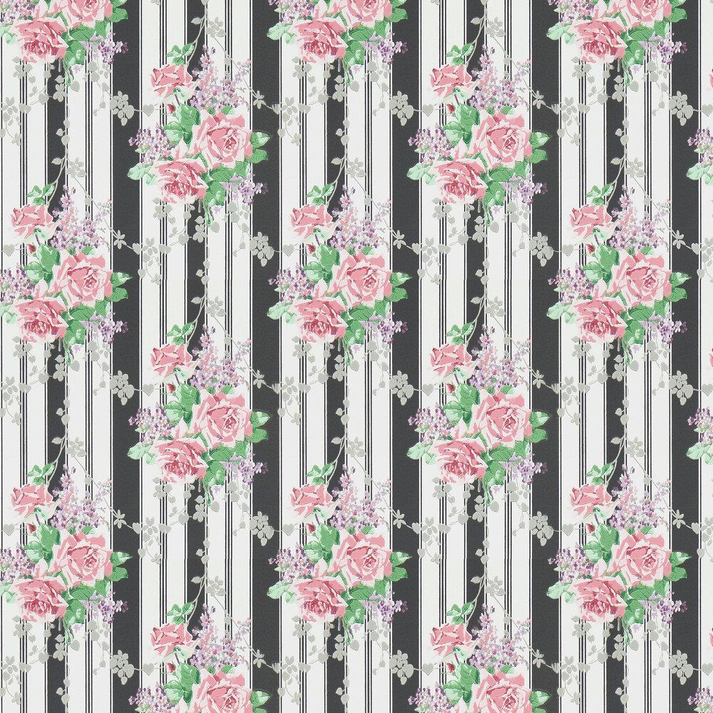 Sanderson Cecile Rose Ebony / Rose Wallpaper - Product code: 214584
