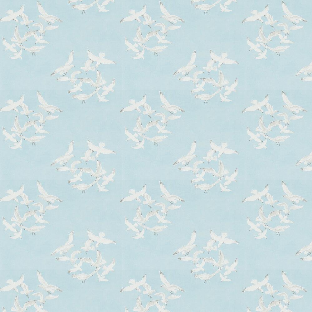 Seagulls Wallpaper - Blue - by Sanderson