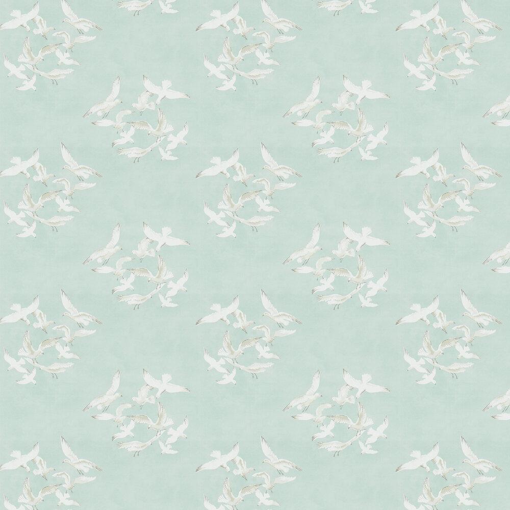 Seagulls Wallpaper - Eau de Nil - by Sanderson