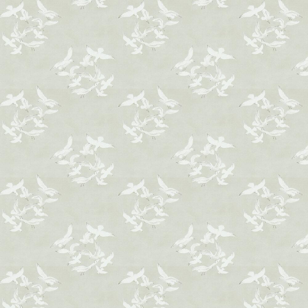 Seagulls Wallpaper - Stone - by Sanderson