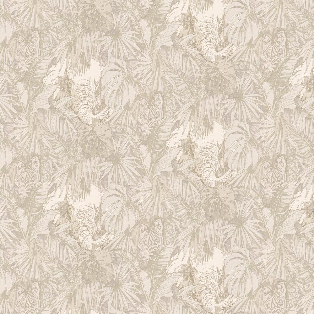 Samburu Wallpaper - Ivory - by Prestigious