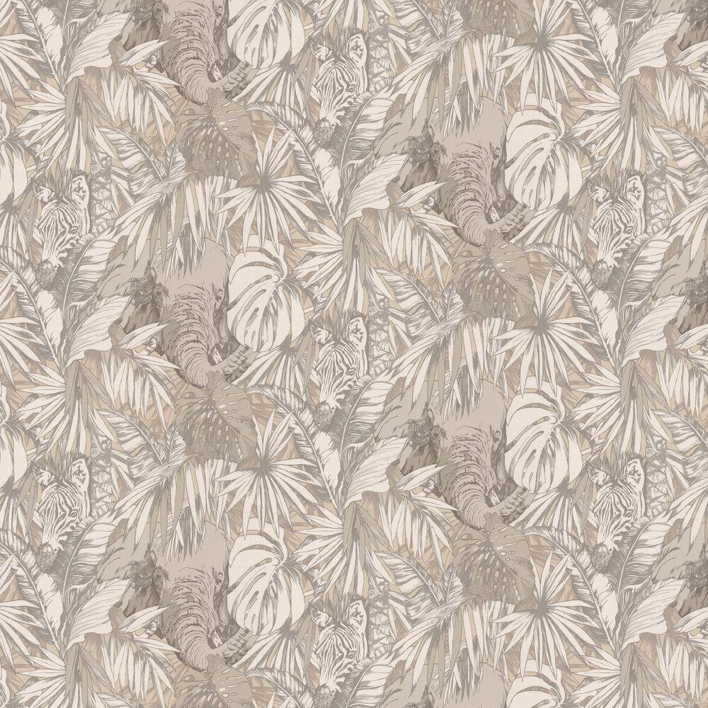 Samburu Wallpaper - Linen - by Prestigious