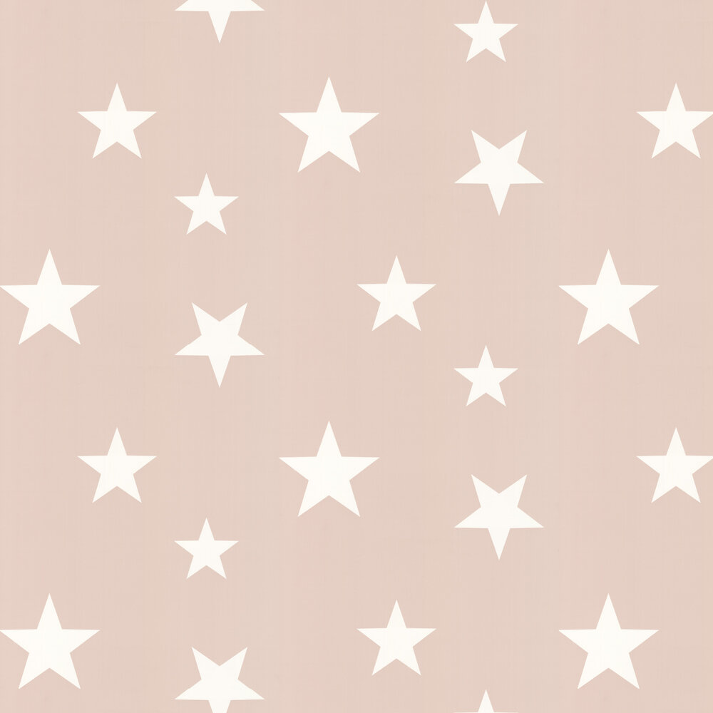 Hibou Home Stars Blush / White Wallpaper - Product code: HH00801