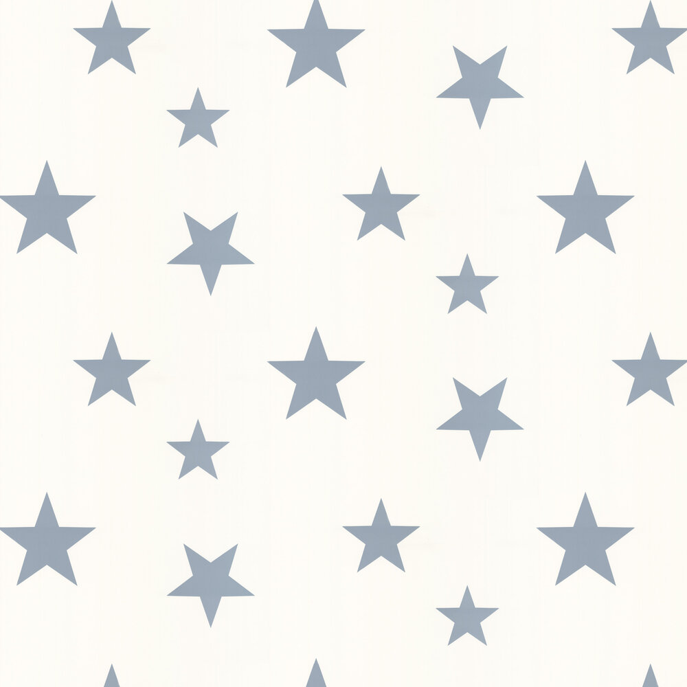 Stars Wallpaper - Blue / White - by Hibou Home