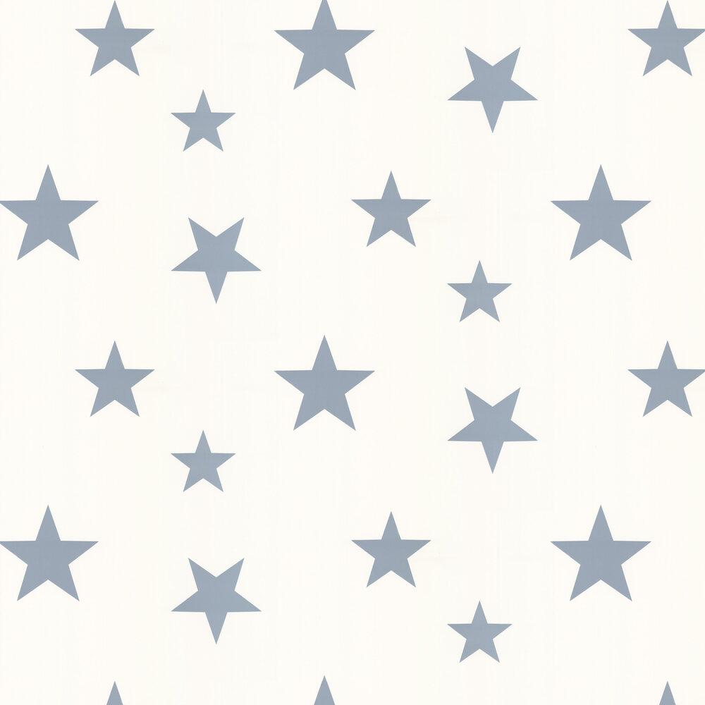 Stars Wallpaper - Blue / White - by Hibou Home