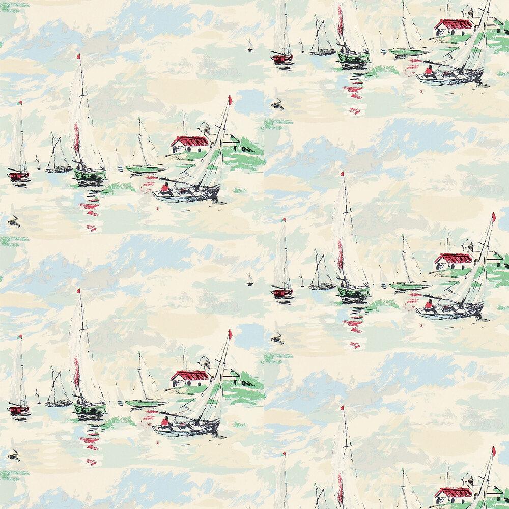 Sail Away Wallpaper - Sea Green - by Sanderson