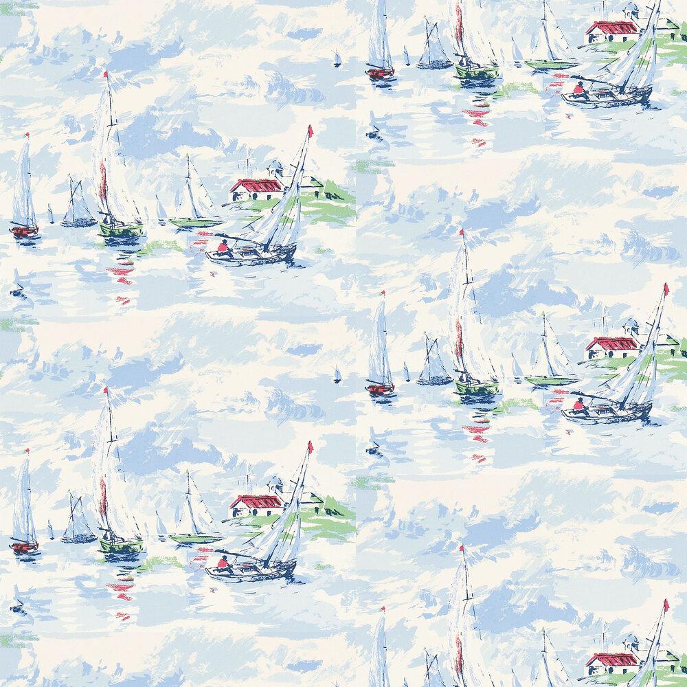 Sail Away Wallpaper - Sky Blue - by Sanderson