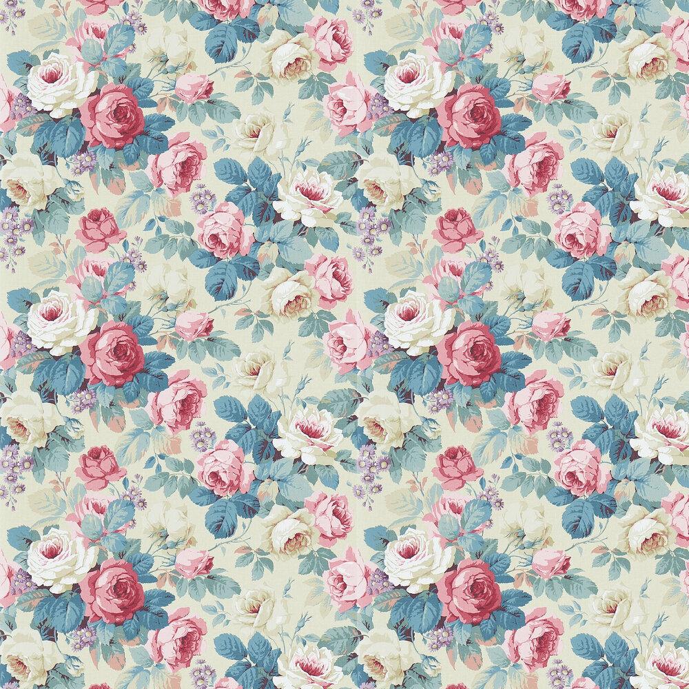 Chelsea Wallpaper - Indigo / Loganberry - by Sanderson