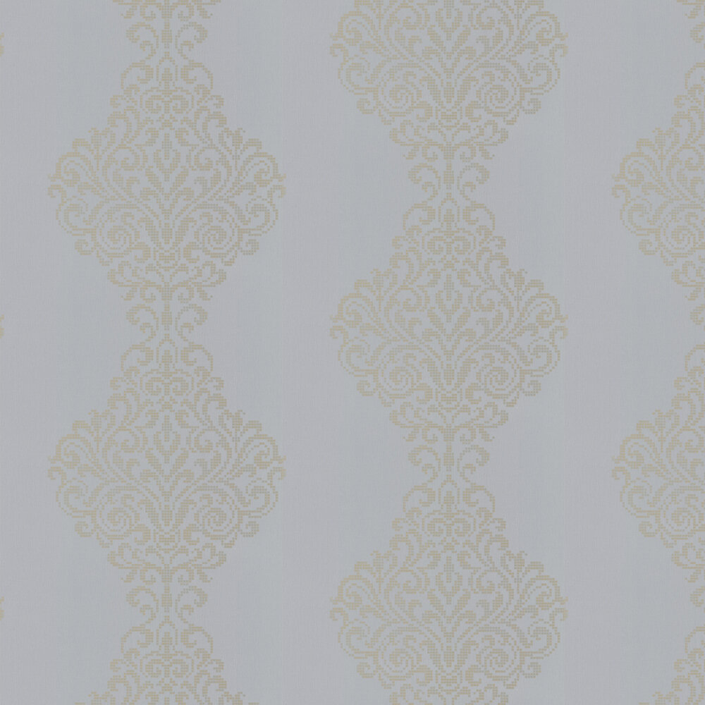 Albany Holographic Damask Motif Pale Blue Wallpaper - Product code: 20750