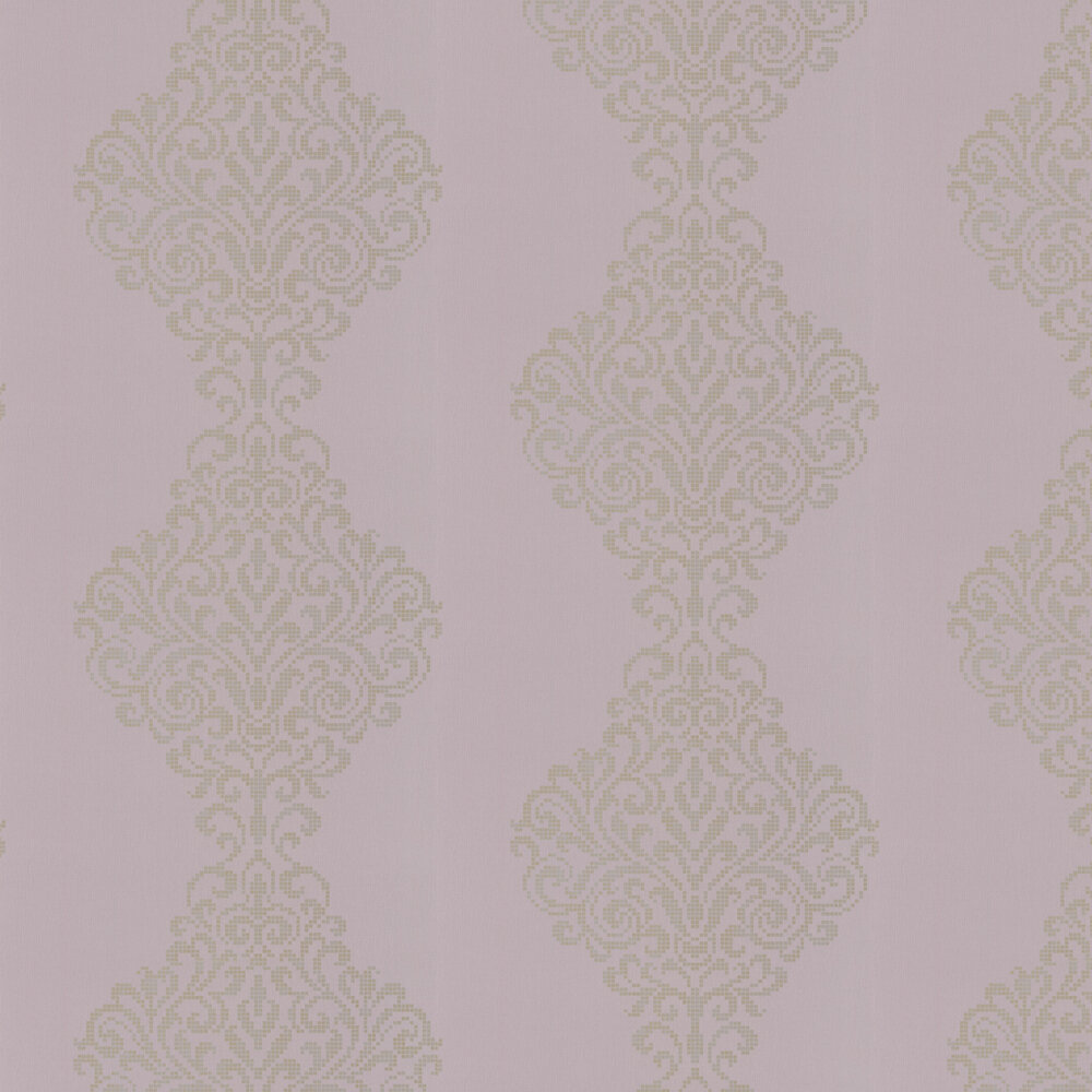 Albany Holographic Damask Motif Lilac Wallpaper - Product code: 20751