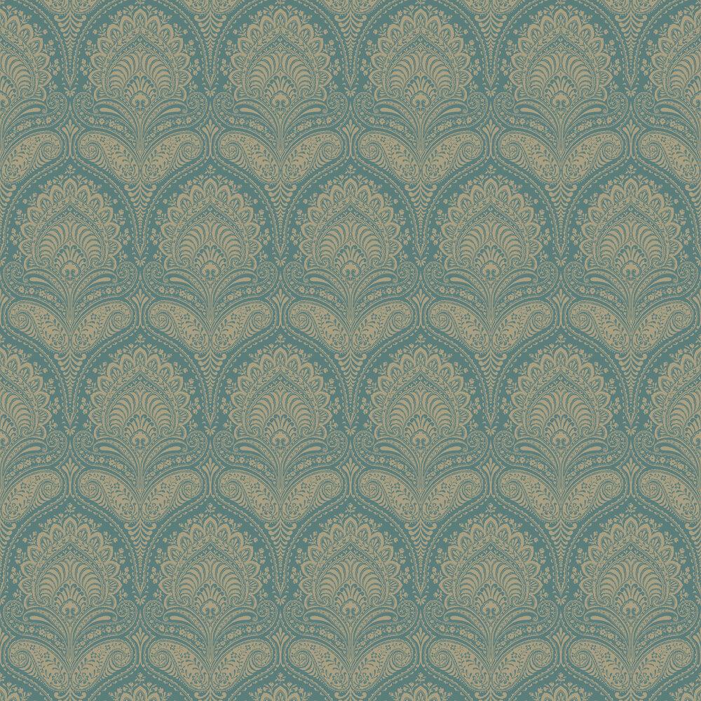 Regal Wallpaper - Teal - by SketchTwenty 3