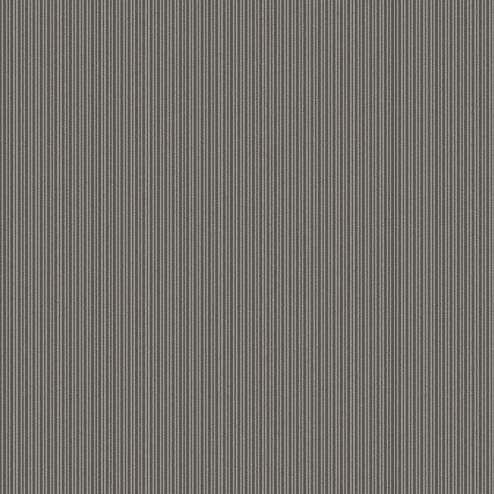 SketchTwenty 3 Cotton Stripe Charcoal Wallpaper - Product code: CO00150