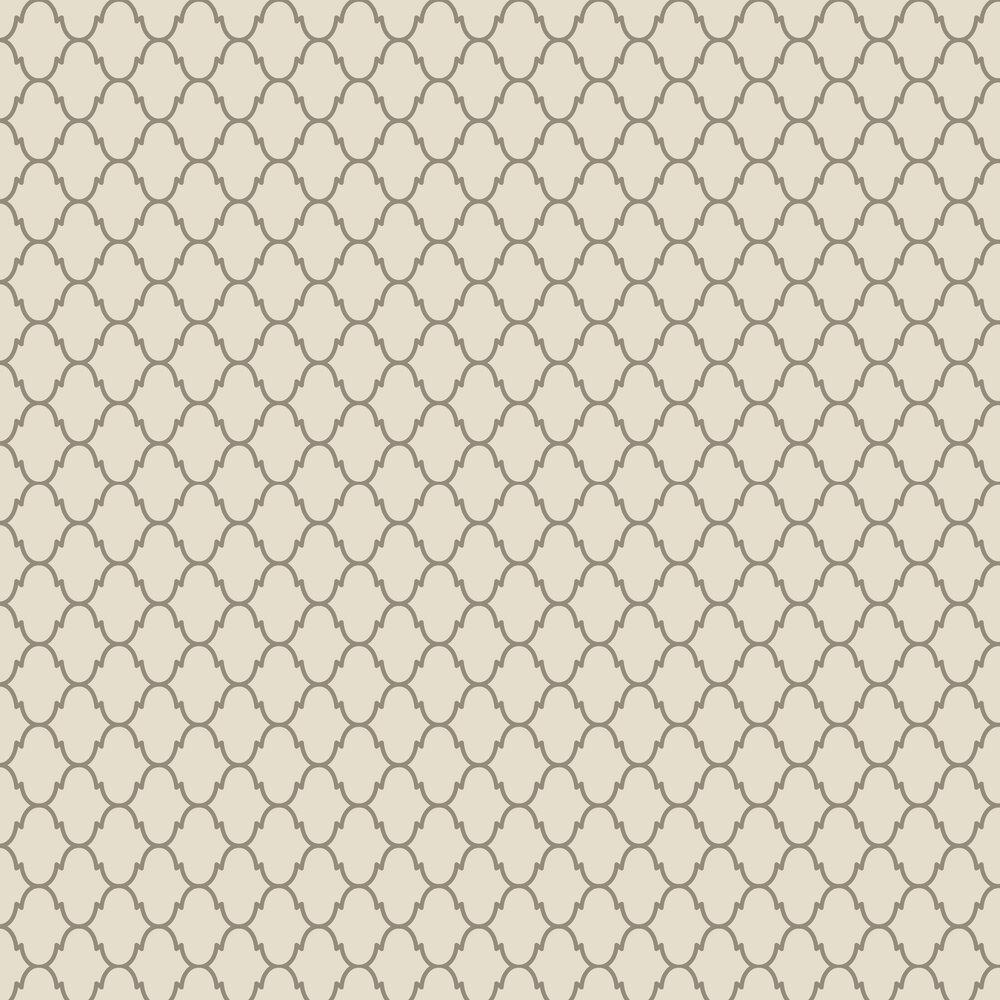 Moroccan Beaded Wallpaper - Latte - by SketchTwenty 3