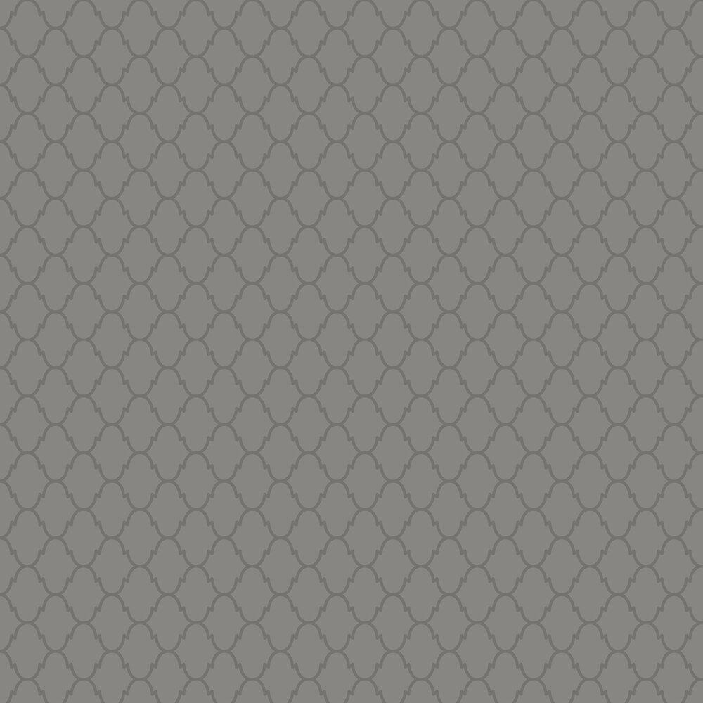 Moroccan Wallpaper - Charcoal - by SketchTwenty 3