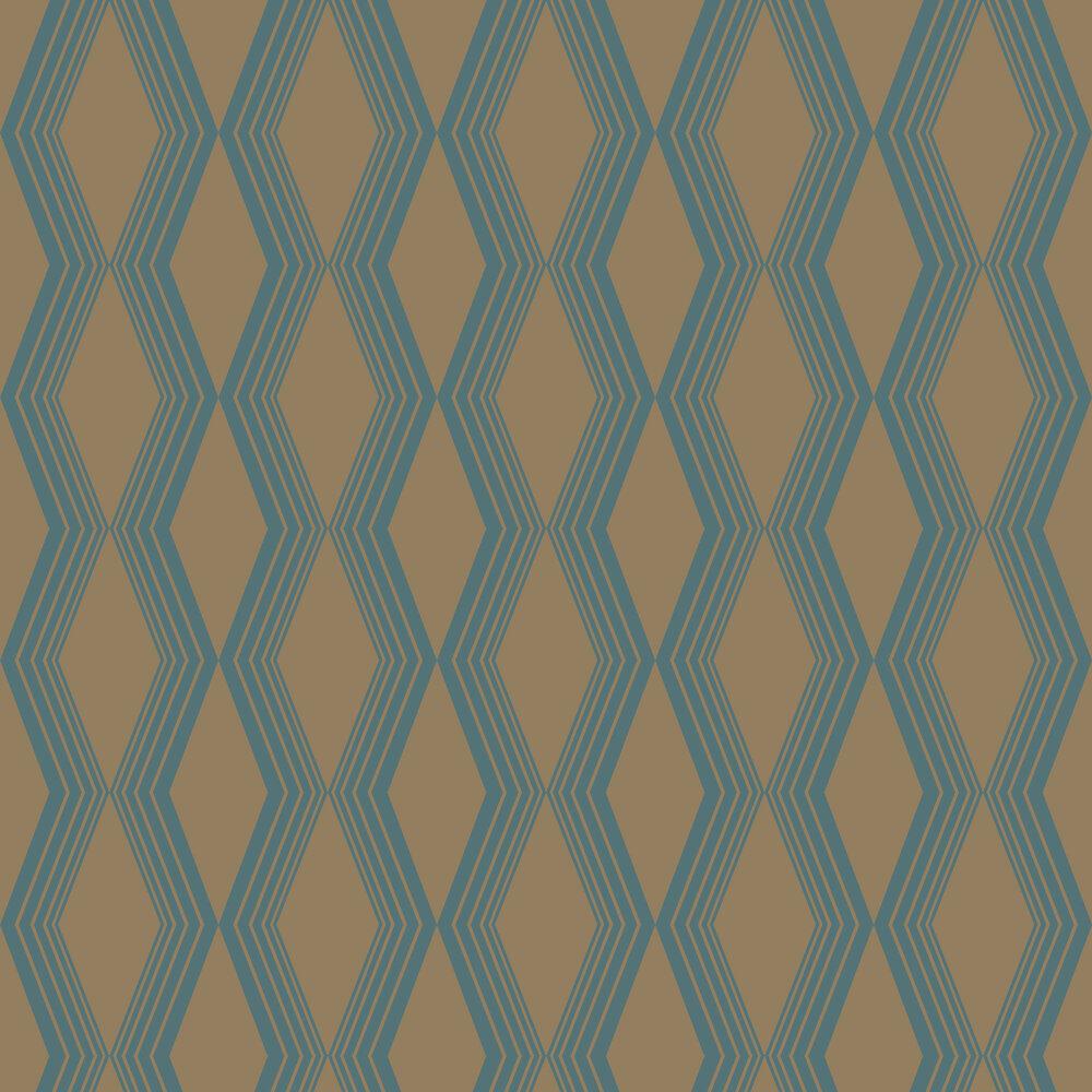 Concertina Wallpaper - Teal - by SketchTwenty 3