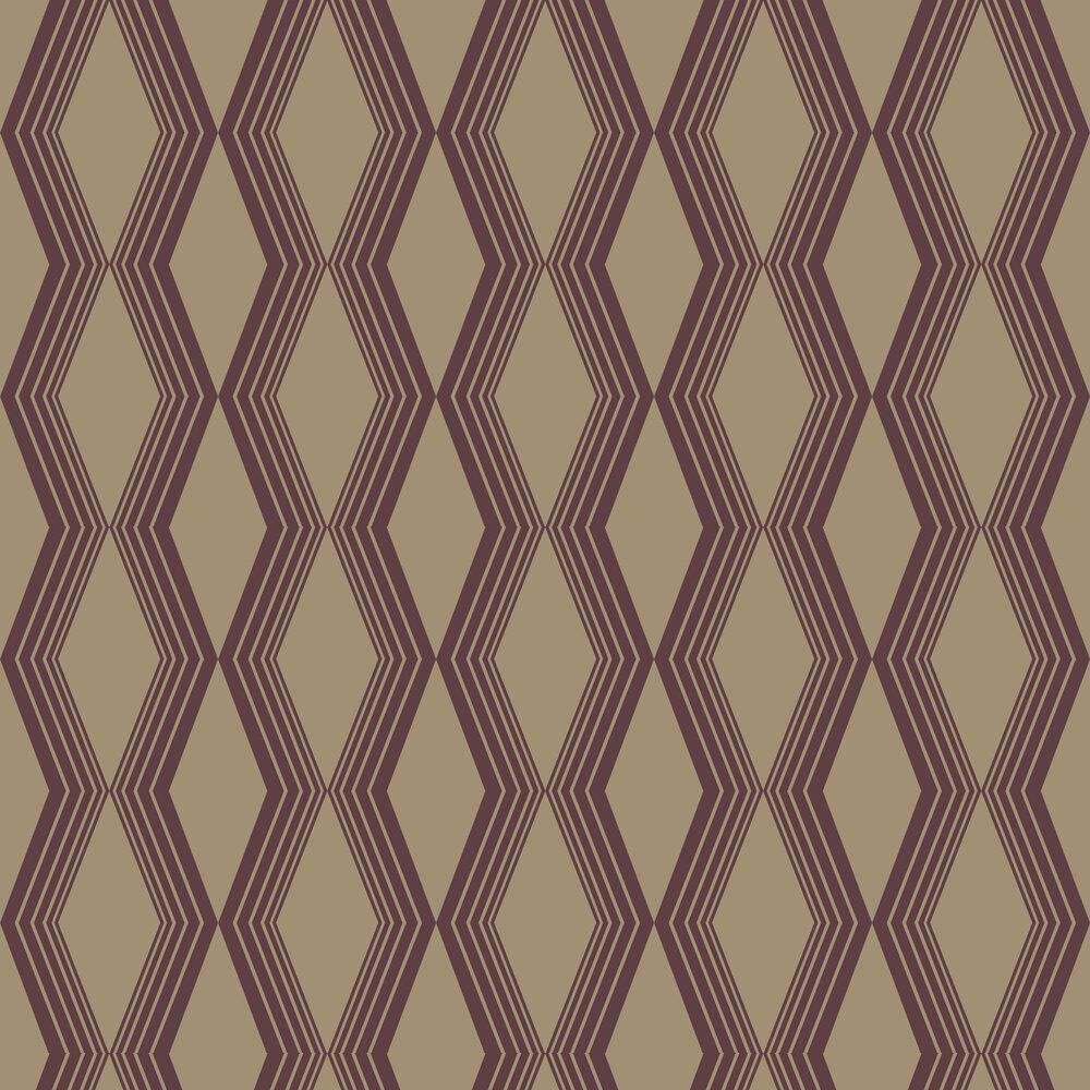 Concertina Wallpaper - Burgundy - by SketchTwenty 3