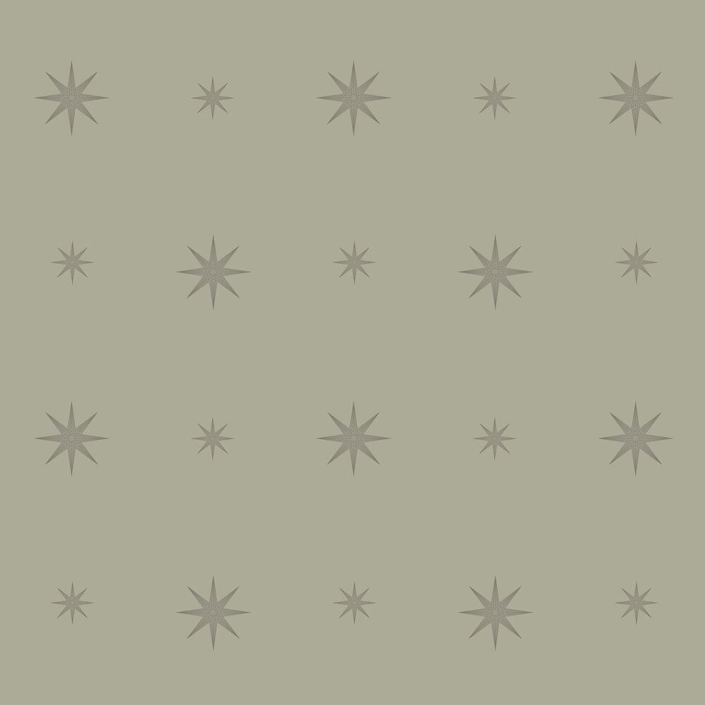 Star Wallpaper - Olive - by SketchTwenty 3