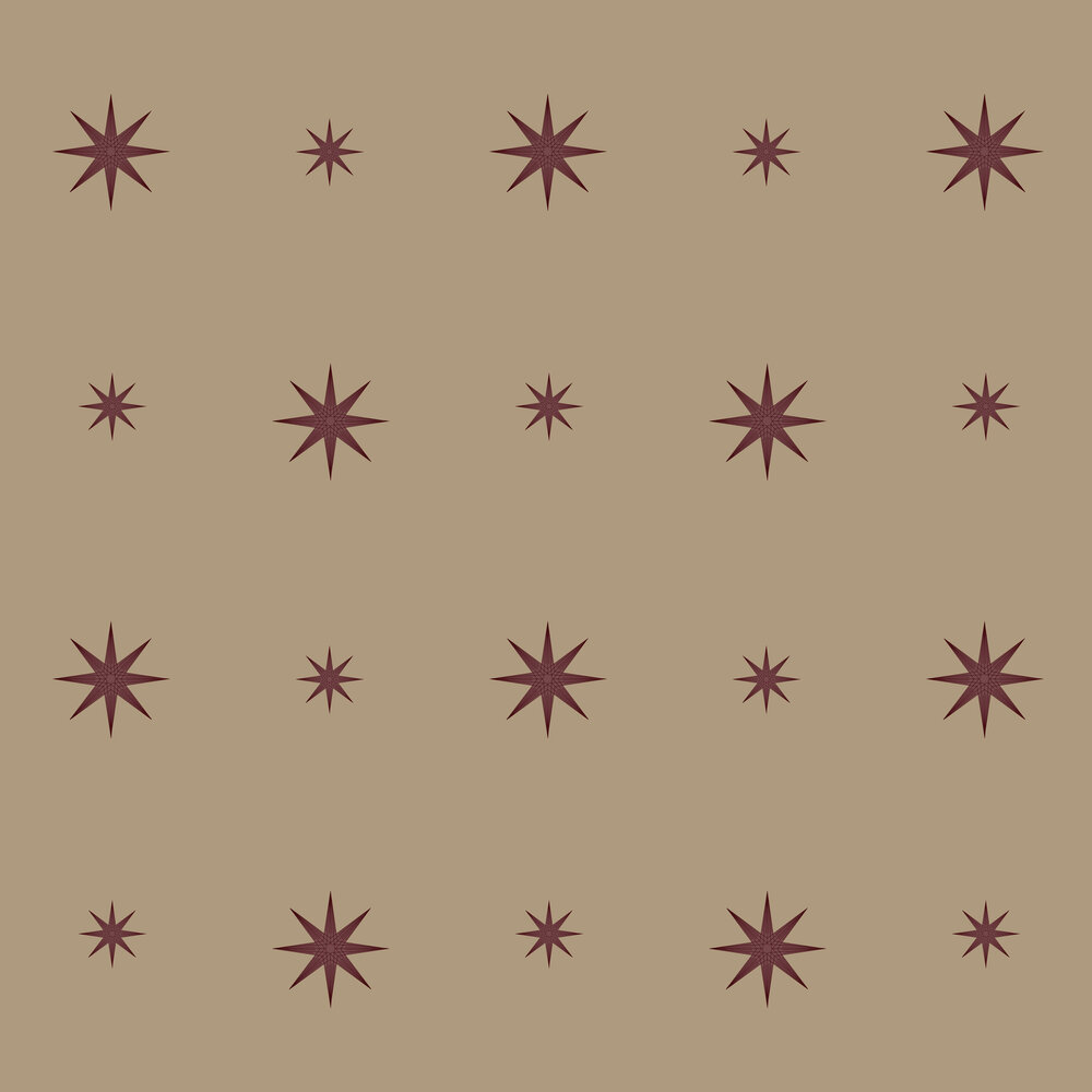 Star Wallpaper - Burgundy - by SketchTwenty 3