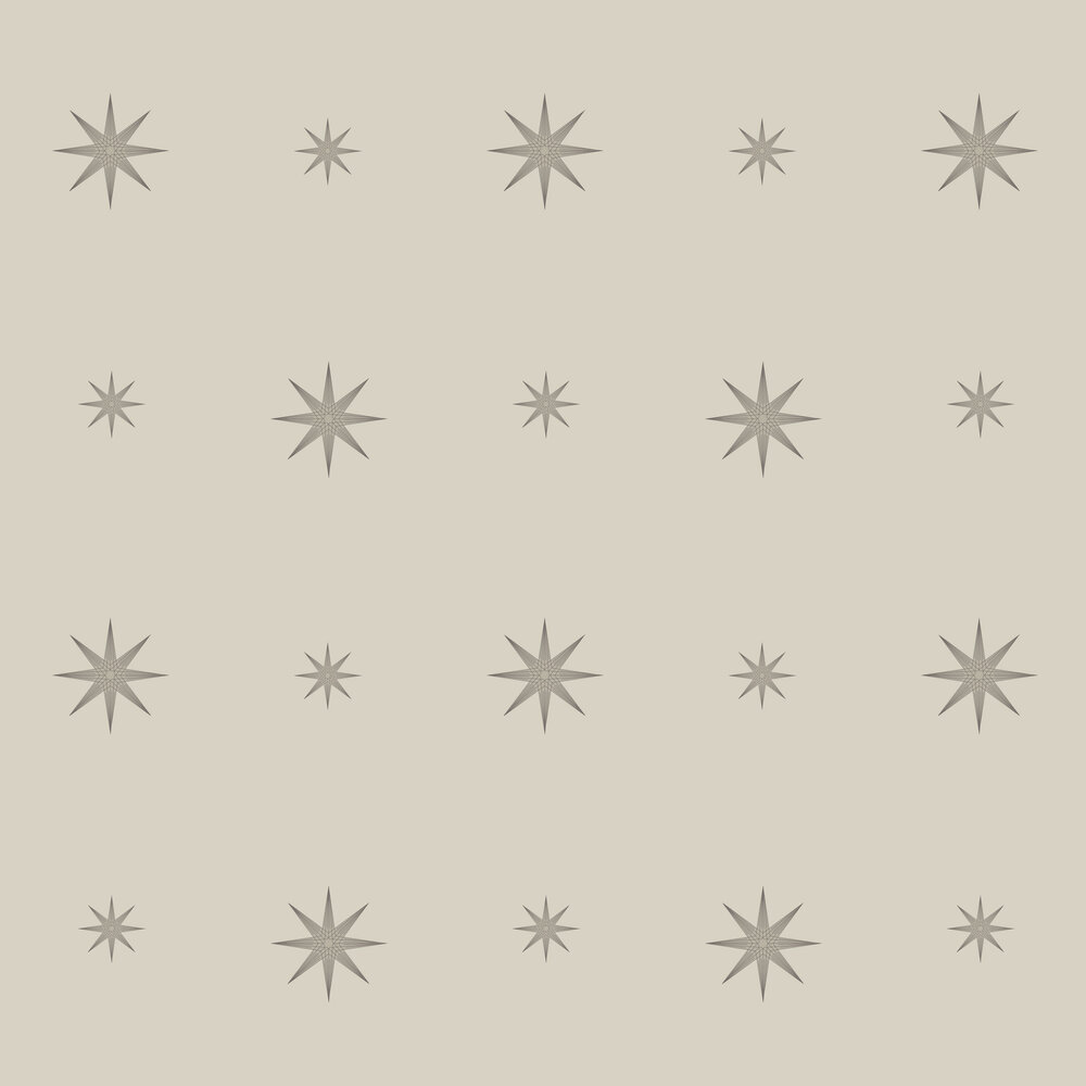 Star Wallpaper - Beige - by SketchTwenty 3